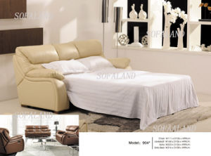 Modern Italy Leather Sofa Bed 904# pictures & photos