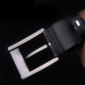 Mens Fashion Belts 100% Cowhide Genuine Leather Pin Buckle Straps pictures & photos