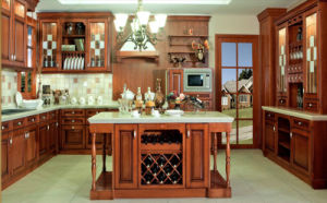 America Style Solid Wood Kitchen Furniture for Villa (BR-SA01B) pictures & photos