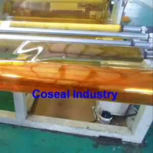 Coseal Light Yellow Super Clear PVC Sheet pictures & photos