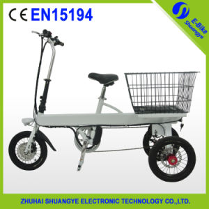 Good Sale 14 Inch Cargo Foldable Electric Tricycle pictures & photos