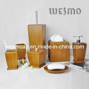 High-End Carbonized Bamboo Bath Set (WBB0623A) pictures & photos