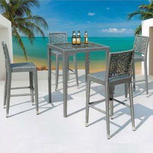 Greece Style Outdoor Furniture PE Rattan Dining Table and Chair pictures & photos