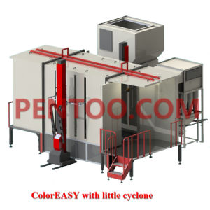 Magic Color Automatic Powder Coating Booth for Complex Workpieces pictures & photos