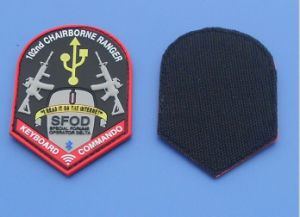 Chairborne Ranger Military PVC Rubber Patches Hook & Loop pictures & photos