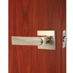 High Quality and Security Tubular Door Lever Lock in Satin Nickel for Privacy Usage pictures & photos