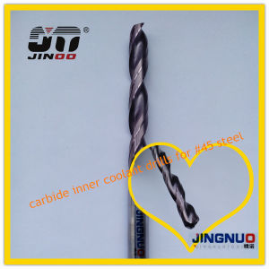 Jinoo High Performance Internal Colling Tungsten Carbide Drill 2 Flutes pictures & photos