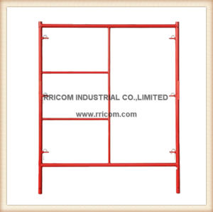 W- Style Red Powder Coated Ladder Frames pictures & photos