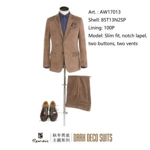 OEM 2017 Slim Fit Notch Lapel Men′s Leisure Suit pictures & photos