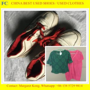 Factory Direct Export Container of Used Shoes in Kg pictures & photos