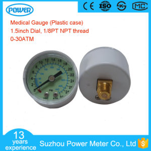40mm 30ATM Medical Gauge with Thread 1/8PT for Inflation Device pictures & photos