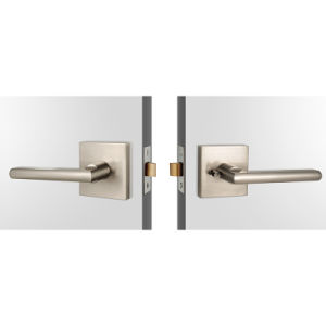 Modern Passage Handle Door Lock with Contemporary Square Rose pictures & photos