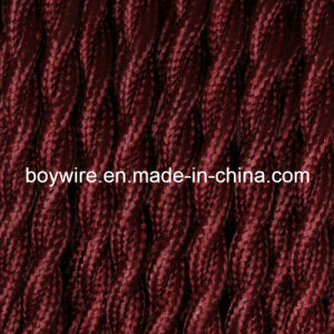 Darkbrown2-Conductor Cloth Covered Wire (BYW-8001) pictures & photos