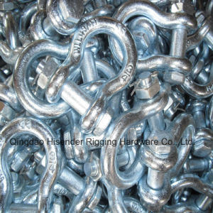 Us Type Forged Shackle with Pin and Safety Nut. G2130 pictures & photos