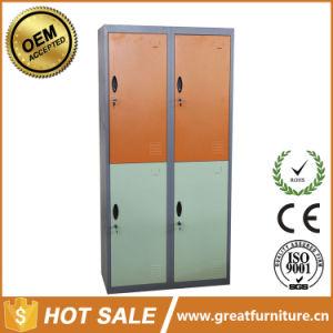 Plastic and Metal Handle Wardrobe Metal 4 Doors Closets Locker pictures & photos
