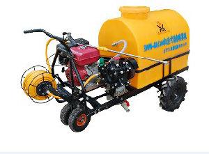 Self-Contained Trolley Gasoline Engine Power Sprayer, Diaphragm Pump Plunger Pump Power Boom Sprayer pictures & photos