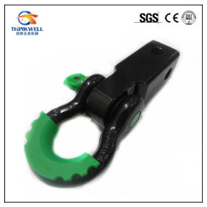 Trailer Hitch Receiver Bow Shackle Receiver Hitch D-Ring with Shackle and Isolator pictures & photos