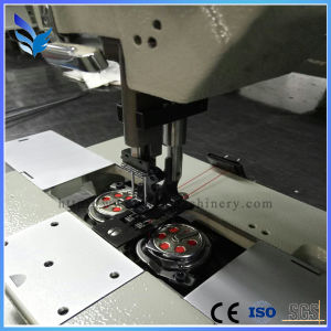 Automatic Cloth Sewing Machine Double Needle Unison Feed Lockstitch Machine pictures & photos