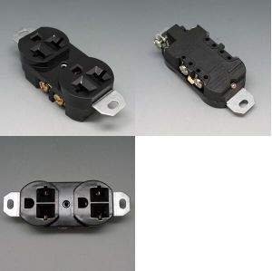 UL Certificated Balck Duplex Receptacle 20A 120V for South America pictures & photos
