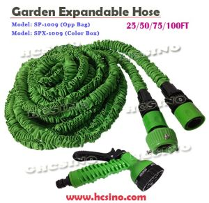 Expandable Fabric Cloth Garden Water Hose with Double Layers Latex Inner Tube