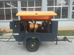Portable Air Compressor for Sand Blasting Hg300m-10 Portable Diesel Air Compressor pictures & photos