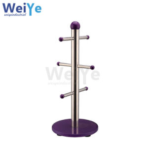 Stand of Cup Rack with Display Rack (WY7009 Purple)