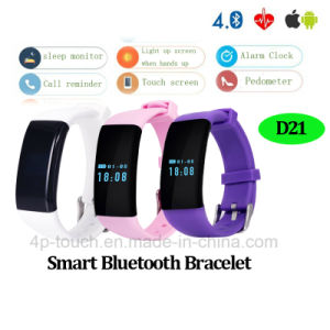Bluetooth Smart Bracelet with Heart Rate Monitor (D21) pictures & photos