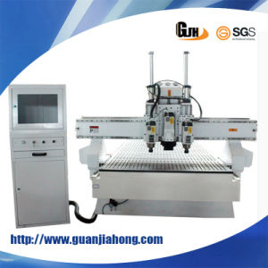 Muti Workstage 1325 Woodworking CNC Router with Three Asynchronous Spindle/ Head pictures & photos