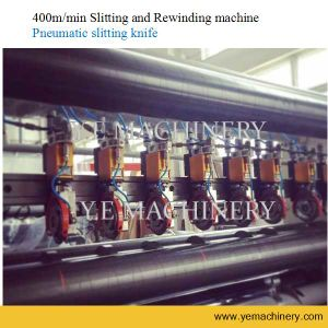 China Automatic Plastic Film Paper Slitter Rewinder with Pneumatic Knife pictures & photos