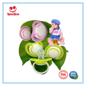 Food Grade Oval Cute Newborn Pacifiers with Soft Soother pictures & photos
