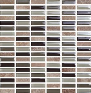 Interior Crystal Glass Mosaic and Marble Mosaic (M858001) pictures & photos