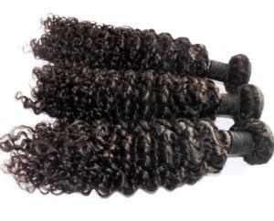 8A Brazilian Virgin Hair Kinky Curl Human Hair Weft pictures & photos