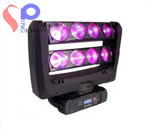 2014 New CREE Chips RGBW 8X10W Xy Motorized LED Beam Spider Moving Head