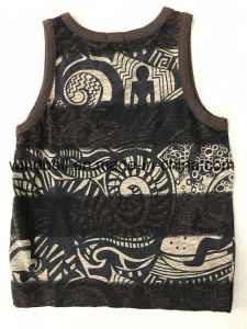 Summer Slub Cotton Vest for Boy with All-Over Printing pictures & photos