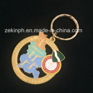 Gold Plating Keychain for Promotional Gift pictures & photos