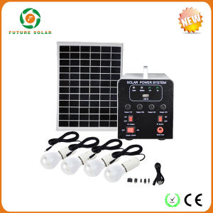 25W DC Solar Photovoltaic System with 4PCS LED Ligths