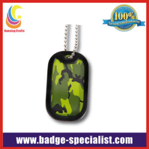 Military Dog Tag Necklace with Silicone Protect Cover (HS-DT011)