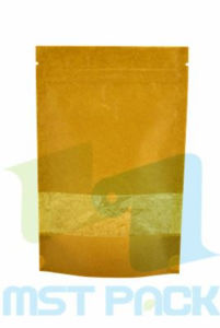 Kraft Paper Stand up Pouch for Food; Zipper Pouch pictures & photos