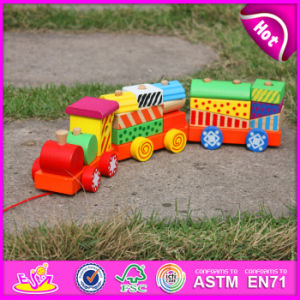 2015 Wholesale Wooden Train Pull Toy for Kid, Colorful Wooden Toy Pull Train Set for Children, Pull Push Wooden Train Toys W05b087 pictures & photos