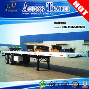 2 Axles 20FT 40FT Flatbed Semi Trailer, Container Truck Trailer pictures & photos