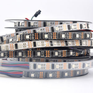 5V 5050 SMD Ws2801IC 30 LEDs RGB IP65 Waterproof LED Strip pictures & photos