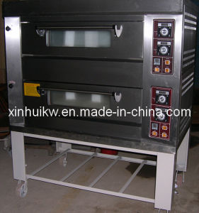 2 Decks-12 Pieces Stainless Steel Gas Pizza Oven pictures & photos
