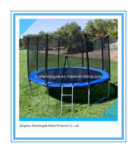 10FT Round Blue Trampoline with PE Net Enclosure pictures & photos