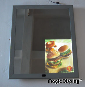 Advertising Mirror Light Box with 4 Images
