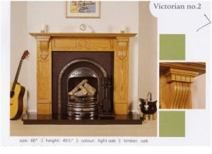Solid Wood Fireplace Mantel (ST-01)