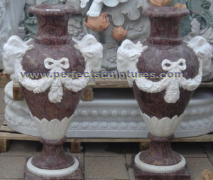 Stone Marble Urn for Garden (QFP338) pictures & photos