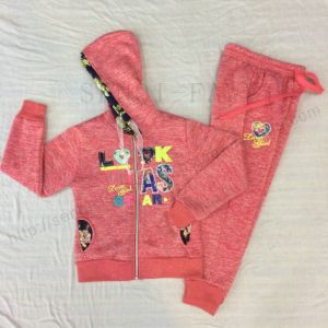 Winter Girl Children′s Sports Suit Wear with Lace in Kids Clothes Sq-6664 pictures & photos