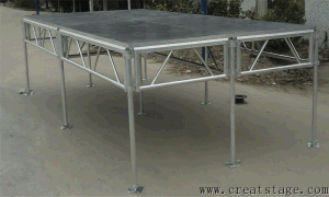 Indoor and Outdoor Aluminum Stage with Red Carpet Platform Step Platforms pictures & photos
