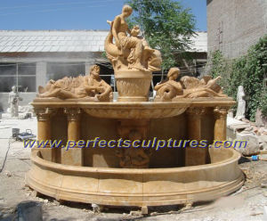 Carved Wall Fountain for Garden Stone Carving Sculpture (SY-F228) pictures & photos