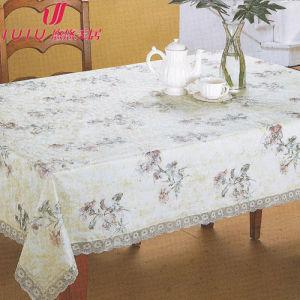 Vinyl Tablecloth with Non-Woven, Jacquard Tablecloth